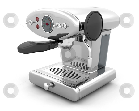 Coffee machine stock photo, 3D render of a coffee machine by Kirsty Pargeter