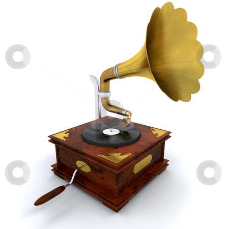 Gramophone stock photo, 3D render of a gramophone by Kirsty Pargeter