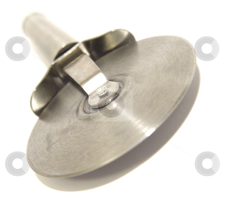 Steel Pizza Cutter stock photo,  by Kirsty Pargeter