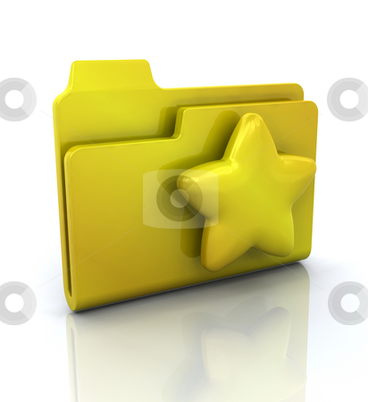 Icon for favourites folder stock photo, 3D icon for favourites folder by Kirsty Pargeter