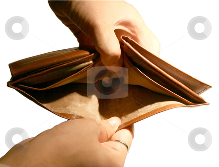 Empty wallet stock photo, An empty leather wallet by Fabio Alcini