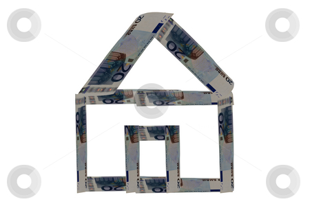 House of money stock photo, A house build with banknotes by Fabio Alcini