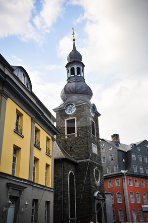 Monschau Germany stock photo, Church in Monschau Germany by Jaime Pharr