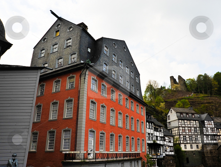 Monschau red house stock photo, Red house in Monschau Germany by Jaime Pharr