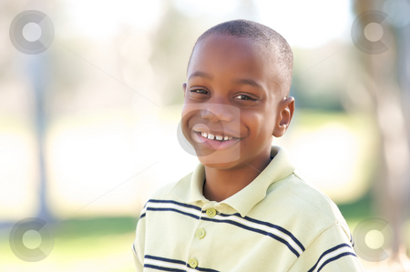 Young Boy stock photo, Young Boy Having Fun In The Park by Andy Dean