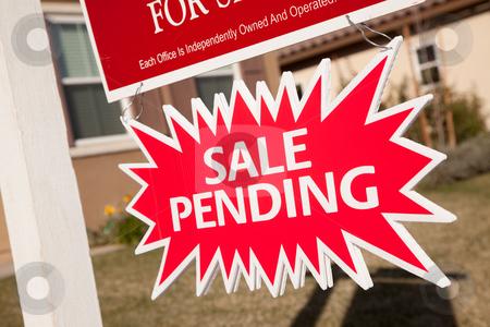 Sale Pending Real Estate Burst Sign stock photo, Red Sale Pending Real Estate Burst Sign. by Andy Dean