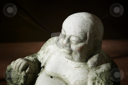 Buddha Statue in Afternoon Light stock photo, Concrete Buddha Statue in bright Afternoon Light by Scott Griessel