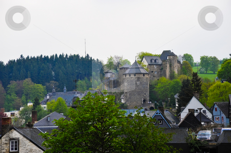 Monschau castle  stock photo, Castle in Monschau Germany by Jaime Pharr
