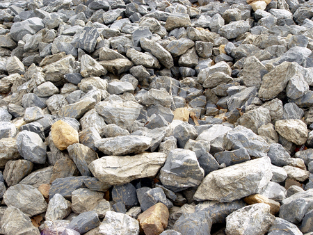 Rock stock photo, Gravel gray rock. texture  construction material by Jack Schiffer