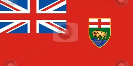 Manitoba Flag stock photo, This is Manitoba flag illustration computer generated. by Tudor Antonel adrian
