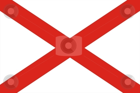 Alabama Flag stock photo, Very large 2d illustration of Alabama flag by Tudor Antonel adrian