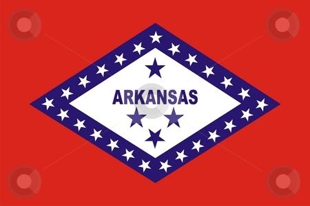 Arkansas Flag stock photo, Very large 2d illustration of Arkansas flag by Tudor Antonel adrian