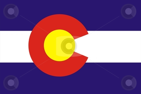 Colorado flag stock photo, Very large 2d illustration of Colorado flag by Tudor Antonel adrian