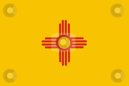 New Mexico Flag stock photo, Very large 2d illustration of New Mexico flag by Tudor Antonel adrian