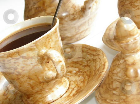 Cup of coffee stock photo, Cup of coffee specially photographed angle-wise by Sergej Razvodovskij