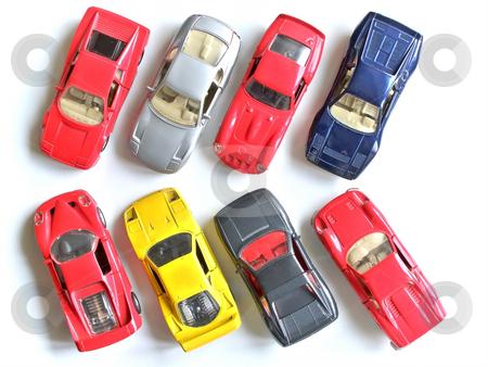 Parking stock photo, Parking of small model cars by Sergej Razvodovskij
