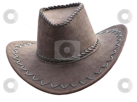 Cowboy's hat over white stock photo, Cowboy's hat against the white background by Sergej Razvodovskij