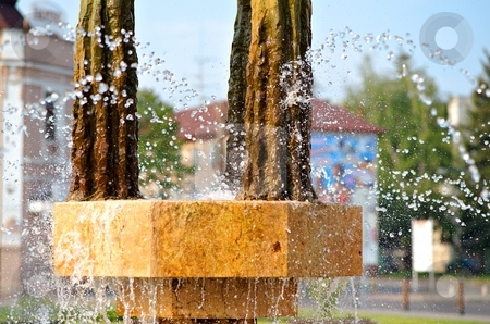 Detail of fountain stock photo, Detail of fountain in sunny day by Juraj Kovacik