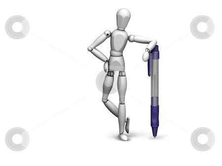 Man with Pen stock photo,  by Kirsty Pargeter