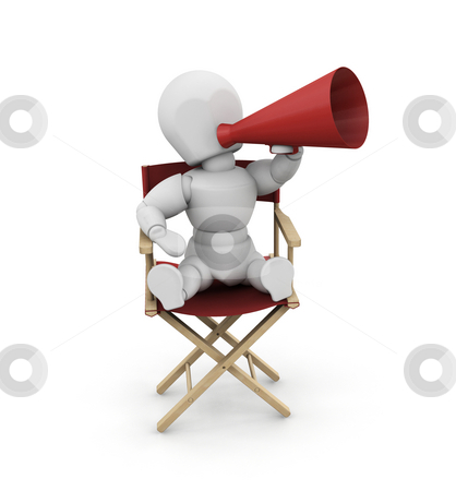 Film director stock photo, 3D render of someone with a megaphone by Kirsty Pargeter