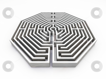 Maze stock photo, 3D render of a maze by Kirsty Pargeter