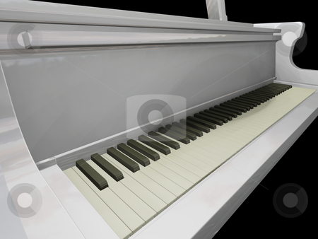 Piano keys stock photo, 3D render of piano keys by Kirsty Pargeter