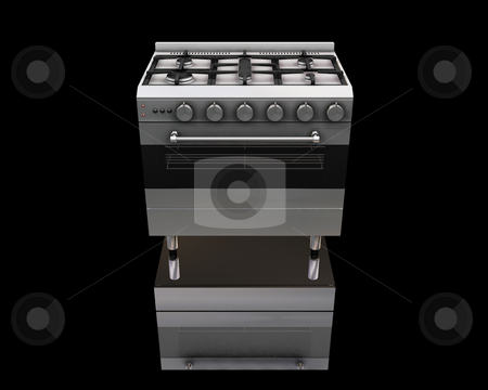 Oven stock photo, 3D render of a modern oven by Kirsty Pargeter