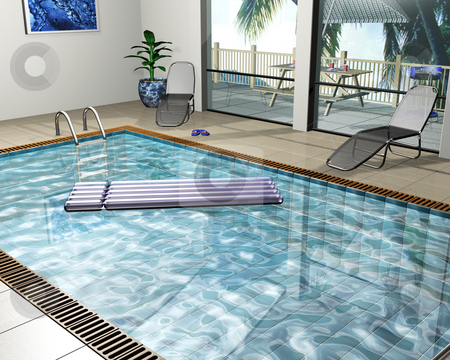 Pool house stock photo, Interior of a pool-house by Kirsty Pargeter