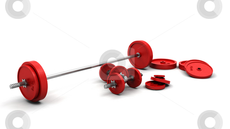 Weights stock photo, 3D render of weights by Kirsty Pargeter
