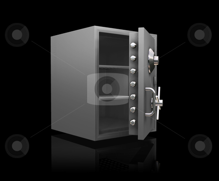 Bank safe stock photo, 3D render of a bank safe by Kirsty Pargeter