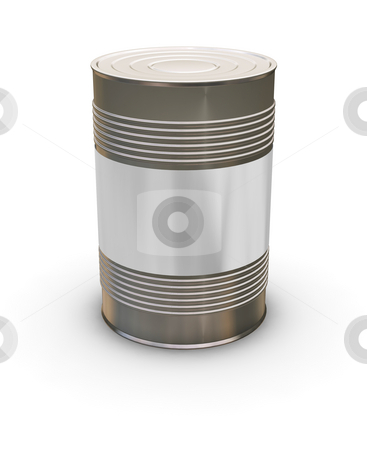 Blank tin can stock photo, 3D render of a tin can with a blank label by Kirsty Pargeter