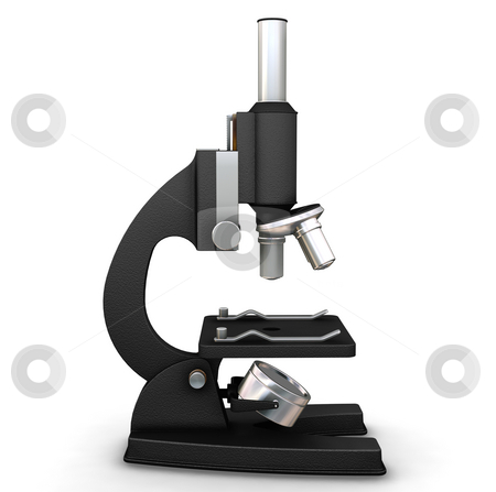 Microscope stock photo, 3D render of a microscope by Kirsty Pargeter