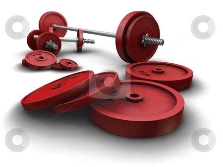 Dumbbells stock photo,  by Kirsty Pargeter