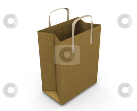 Shopping bag stock photo, 3D render of a shopping bag by Kirsty Pargeter