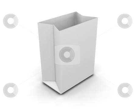 Paper bag stock photo, 3D render of a paper bag by Kirsty Pargeter