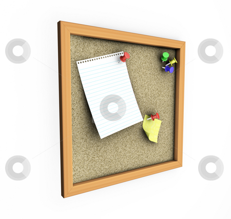 Cork board stock photo, 3D render of a cork board by Kirsty Pargeter