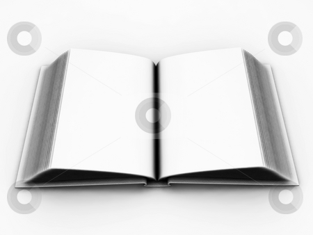 Open book stock photo, 3D render of a blank open book by Kirsty Pargeter
