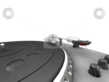 Turntable stock photo, 3D render of a close up of a turntable by Kirsty Pargeter