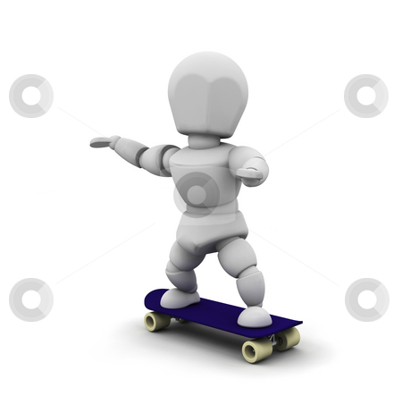 Skateboarder stock photo, 3D render of someone skateboarding by Kirsty Pargeter