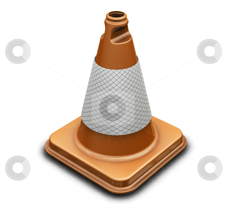 Traffic cone stock photo, 3D render of a traffic cone by Kirsty Pargeter