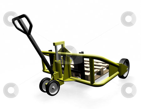 Pallet truck stock photo, 3D render of a pallet truck by Kirsty Pargeter