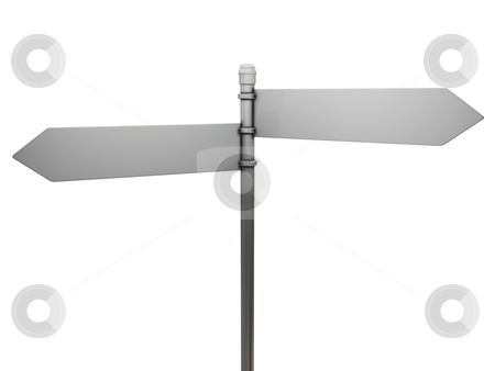 Blank road sign stock photo, 3D render of a blank road sign by Kirsty Pargeter