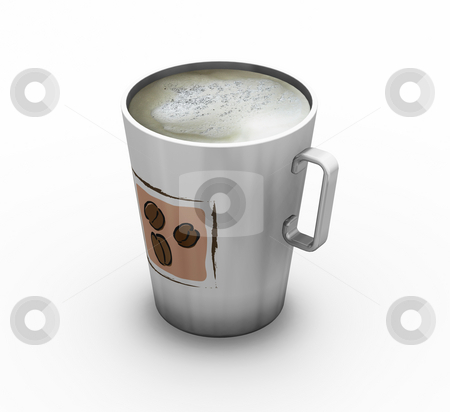 Cup of coffee stock photo, 3D render of a cup of coffee by Kirsty Pargeter