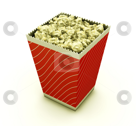 Popcorn stock photo, 3D render of a carton of popcorn by Kirsty Pargeter
