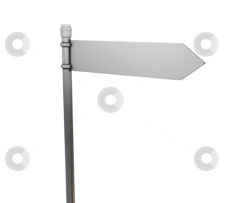 Road sign stock photo, 3D render of a blank road sign by Kirsty Pargeter