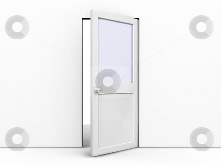 Open door stock photo, 3D render of an open door by Kirsty Pargeter
