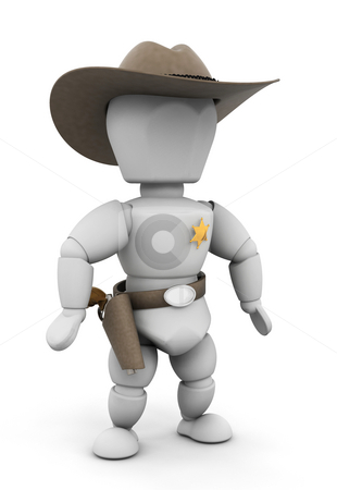 Sheriff stock photo, 3D render of a sheriff by Kirsty Pargeter