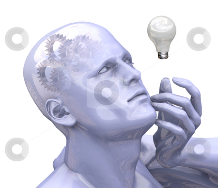 Bright idea stock photo, The power of thought by Kirsty Pargeter