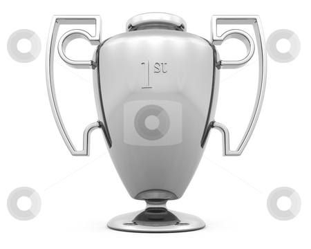 Trophy stock photo, 3D render of a silver trophy by Kirsty Pargeter