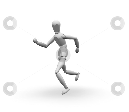 Man running stock photo, 3D render of a man running by Kirsty Pargeter